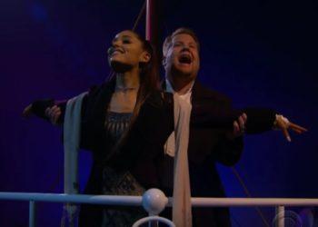 Ariana Grande e James Corden Titanic