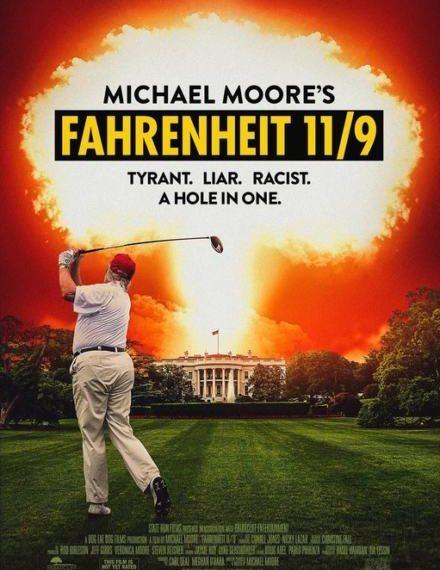 Primo poster ufficiale di Fahrenheit 11/9