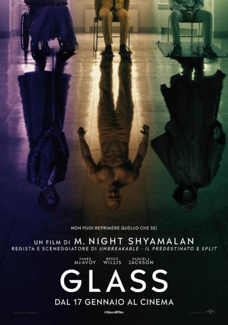 "Primo poster italiano ufficiale del film ""Glass"""