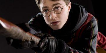harry potter su scopa