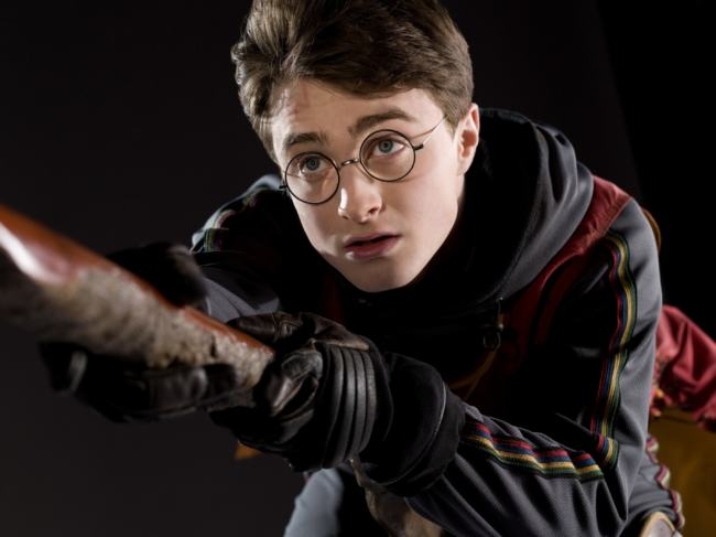 harry potter su scopa
