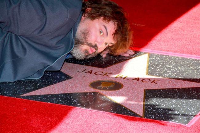 Jack Black sulla Walk of Fame di Hollywood