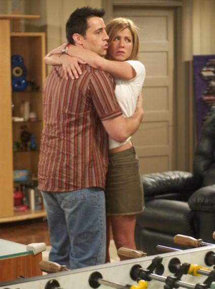 rachel e joey abbraccio