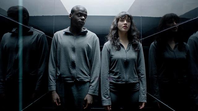 Daniel Kaluuya e Jessica Brown Findlay in Black Mirror