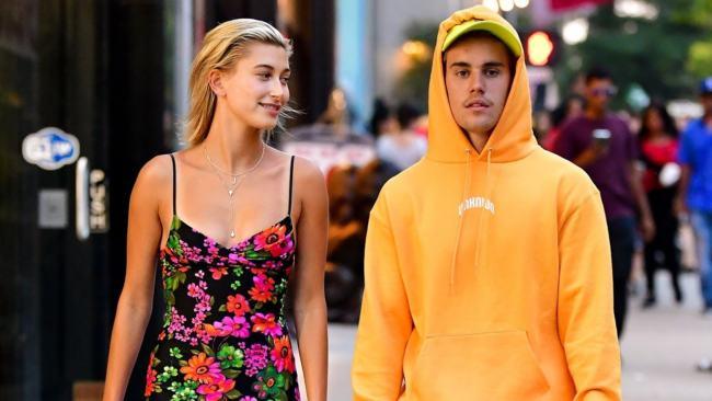 Justin Bieber e Hailey Baldwin nel 2018