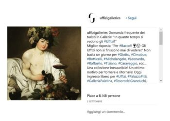 Post delle Gallerie degli Uffizi di Firenze, 22/11/2018
