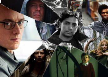I personaggi e il regista del film Glass