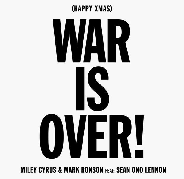 Poster della cover Happy Xmas War is Over di Miley Cyrus