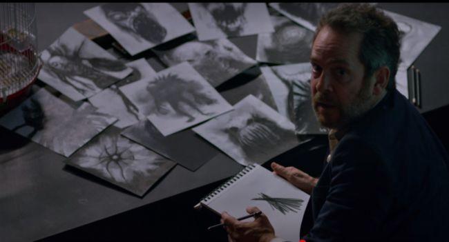scena film disegni delle creature di bird box