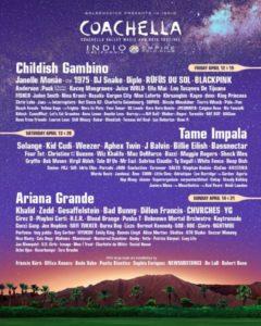 Coachella 2019 locandina