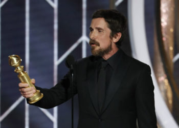 Christian Bale Golden Globe 2019