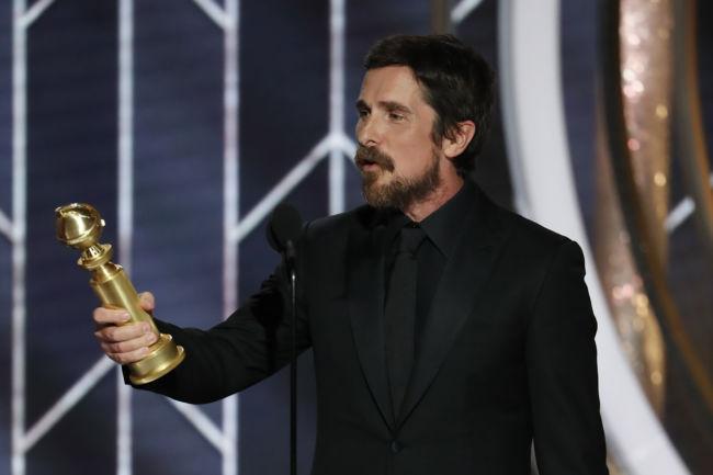 Christian Bale Golden Globe 2019