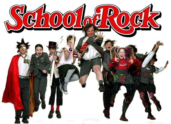 locandina cinematografica school of rock con cast
