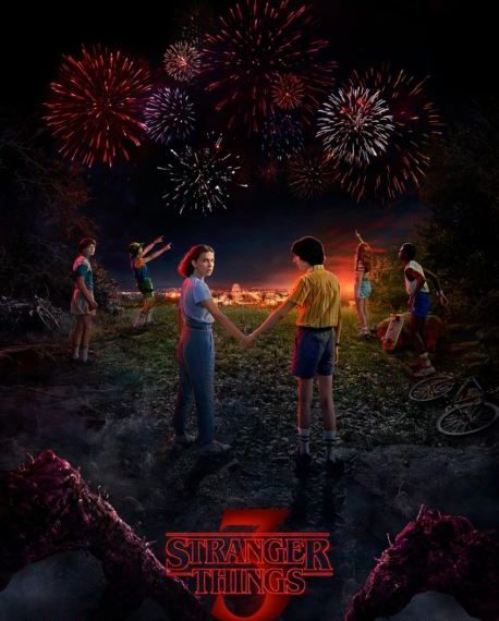 poster stranger things 3 con data di uscita