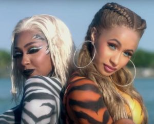 Le City Girls e Cardi B nel video di Twerk