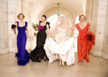 Carrie, Samanta, Charlotte e Miranda in una scena di Sex and the City il film