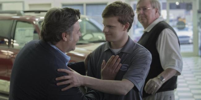 Jared (Lucas Hedges) e suo  padre (Russel Crowe)