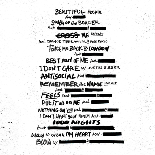 No.6 Collaborations Project tracklist
