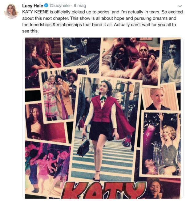 Tweet di Lucy Hale su Katy Keen, lo spin-off di Riverdale