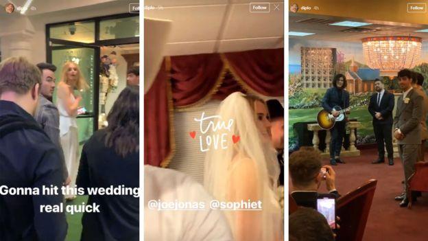 Diplo matrimonio joe jonas sophie turner instagram