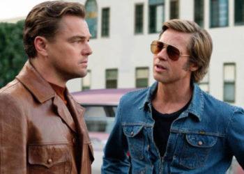 Lonardo Di Caprio e Brad Pitt nel film C'era una volta...a Hollywood