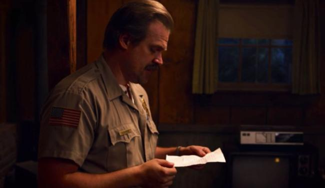stranger things 3 hopper lettera