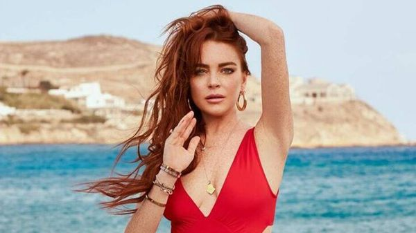 Lindsay Lohan in costume