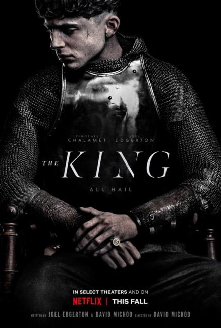 poster the king netflix timothèe chalamet