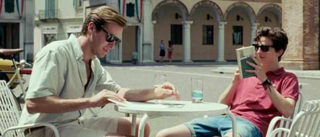 Armie Hammer e Timothée Chalamet in Chiamami col tuo nome