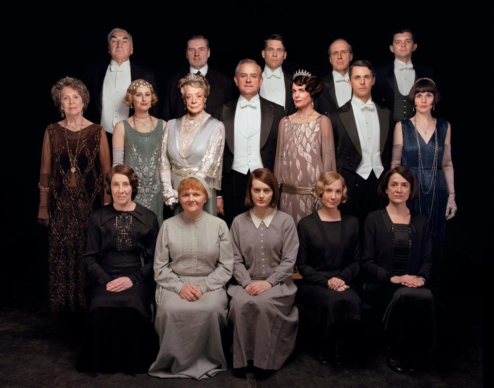 tutto il cast di Downton Abbey