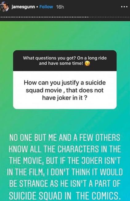 james gunn joker suicide squad