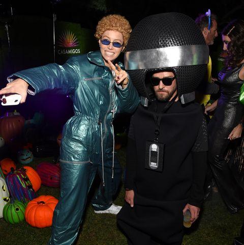 Jessica Biels e Justin Timberlake travestiti per Halloween 2019