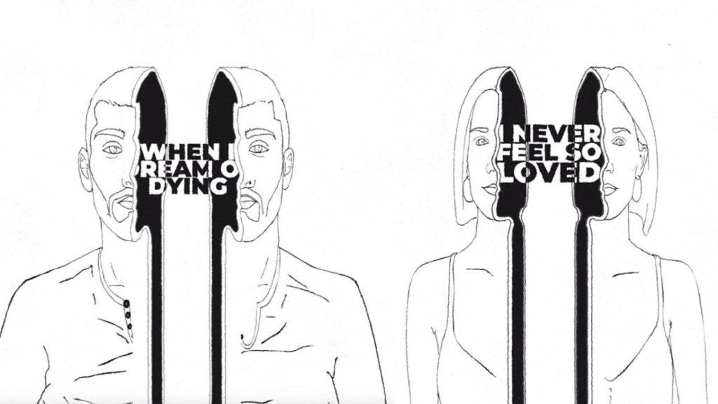 Un'immagine del lyric video di Trampoline, di Zayn e Shaed