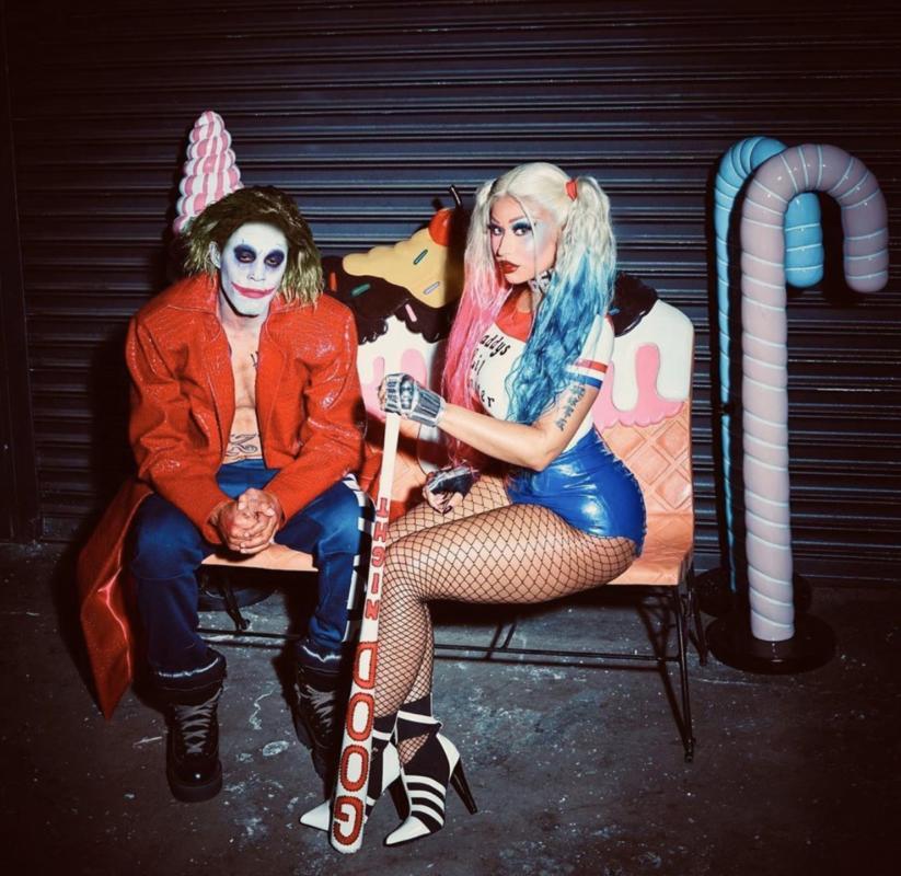 Nicki Minaj e il marito travestiti da Joker e Harley Quinn
