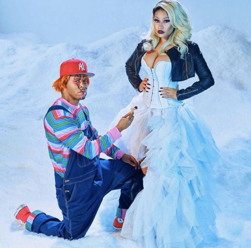 Nicki Minaj e il marito travestiti da Chucky e Tiffany