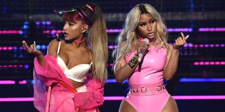 Ariana Grande insieme a Nicki Minaj