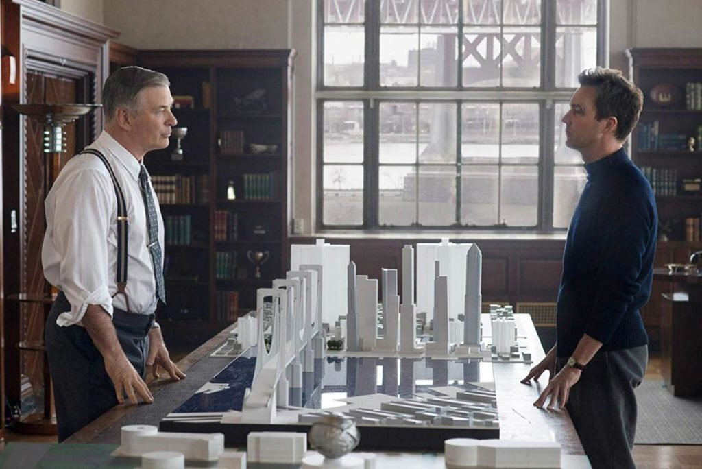Alec Baldwin e Edward Norton in Motherless Brooklyn