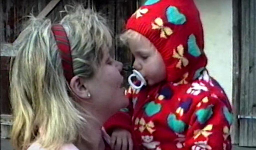 Taylor Swift da piccola con la mamma