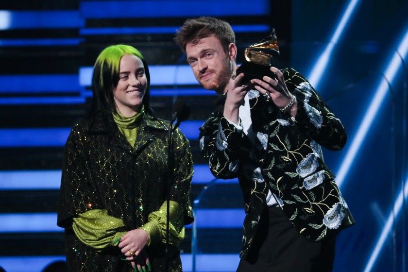 Billie Eilish e Finneas ai Grammy 2020