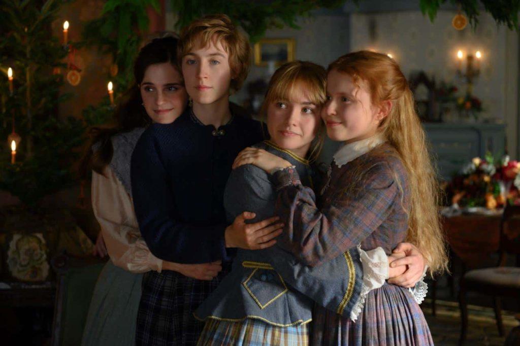 Un'immagine del cast di Piccole Donne, film uscito nel 2019