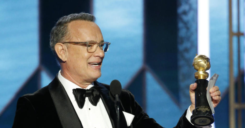 Tom Hanks premio alla carriera ai Golden Globes 2020
