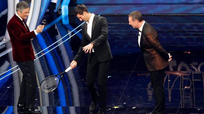 Novak Djokovic ospite a Sanremo 2020
