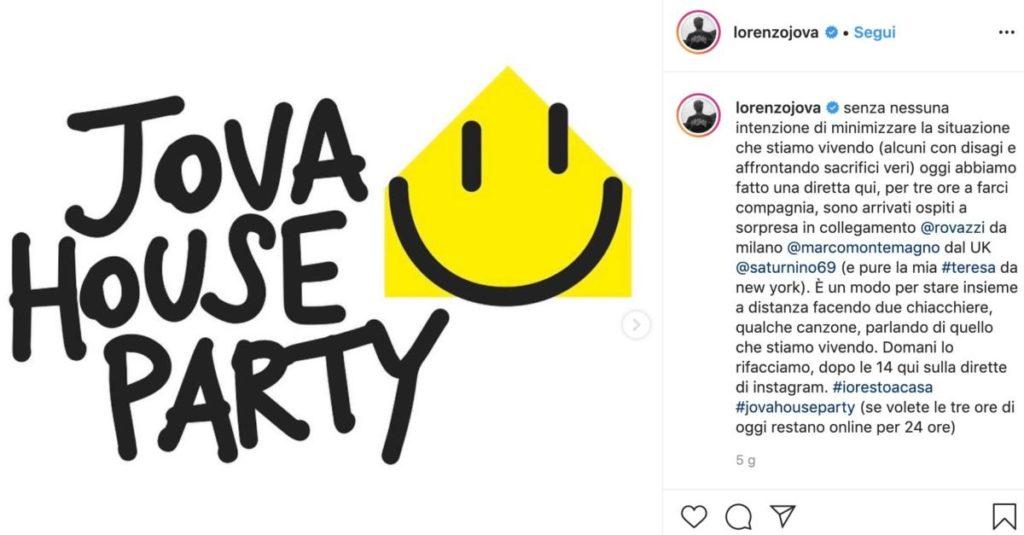 La pagina Instagram di Lorenzo Jovanotti