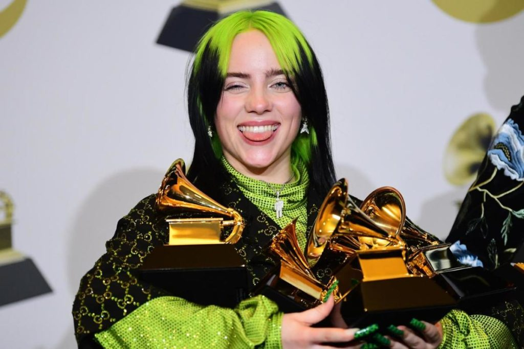 Billie Eilish ai Grammy 2020 Vincitrice