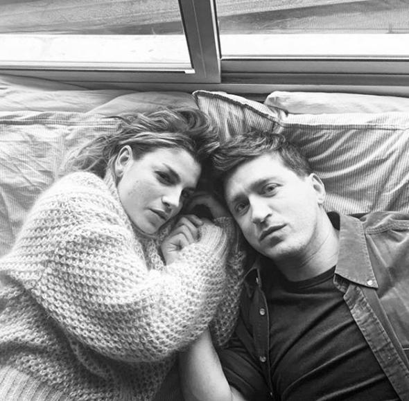 Emma Marrone e Alessandro Roja sul set del video di Luci Blu
