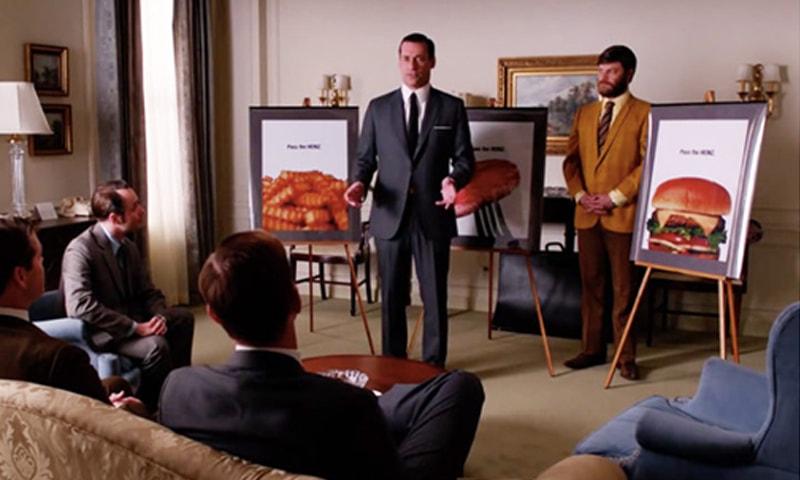 Mad Men serie presentazione pubblicità