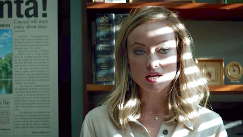 Olivia Wilde nel ruolo della giornalista