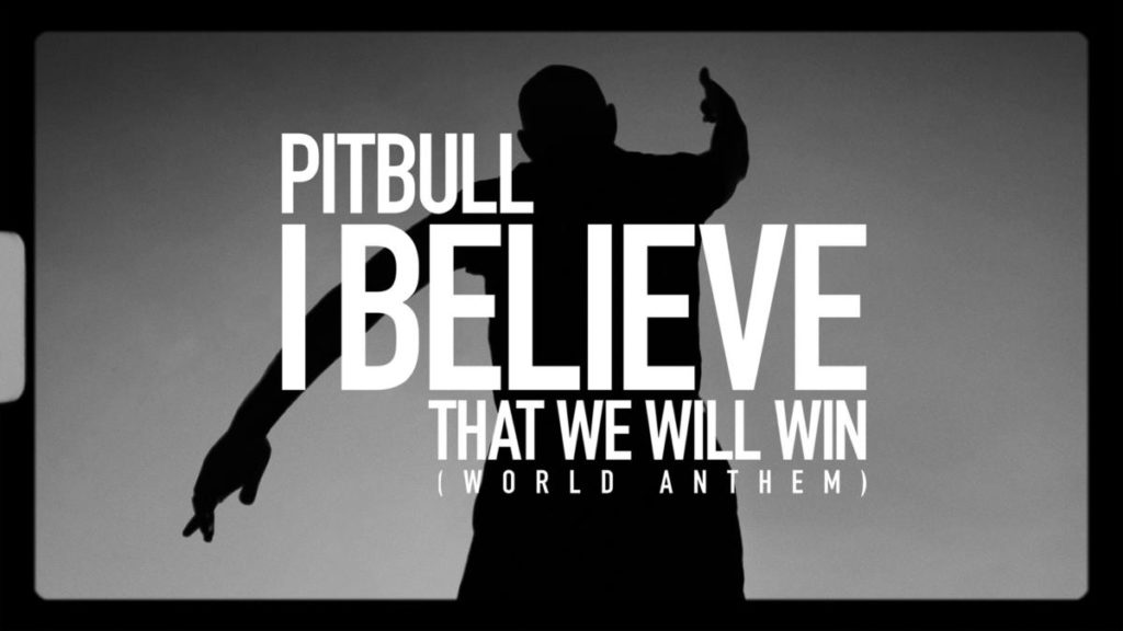 Pitbull I Believe That We Will Win cover