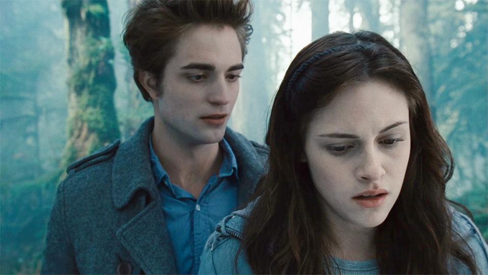 Pattinson e la Stewart in Twilight