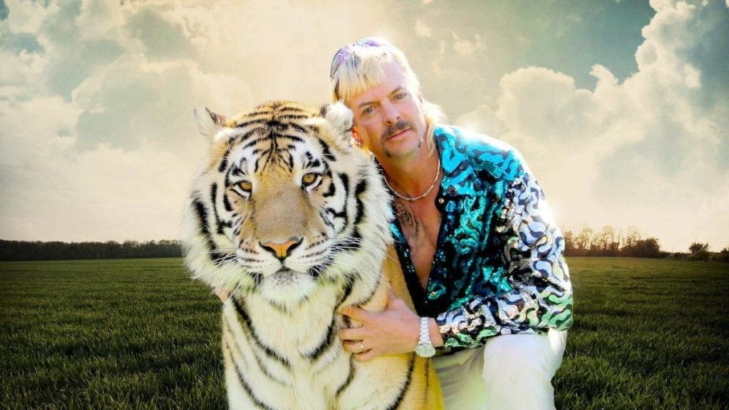 Tiger King Joe Exotic con tigre